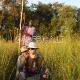 Plaukimas makoro valtimis Okavango deltoje